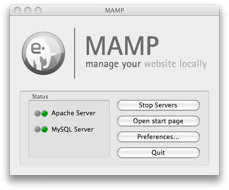 MAMP Control Window