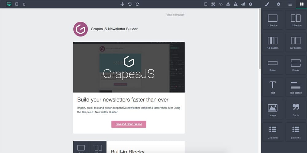 grapesjs preset newsletter/README.md at master · artf/grapesjs