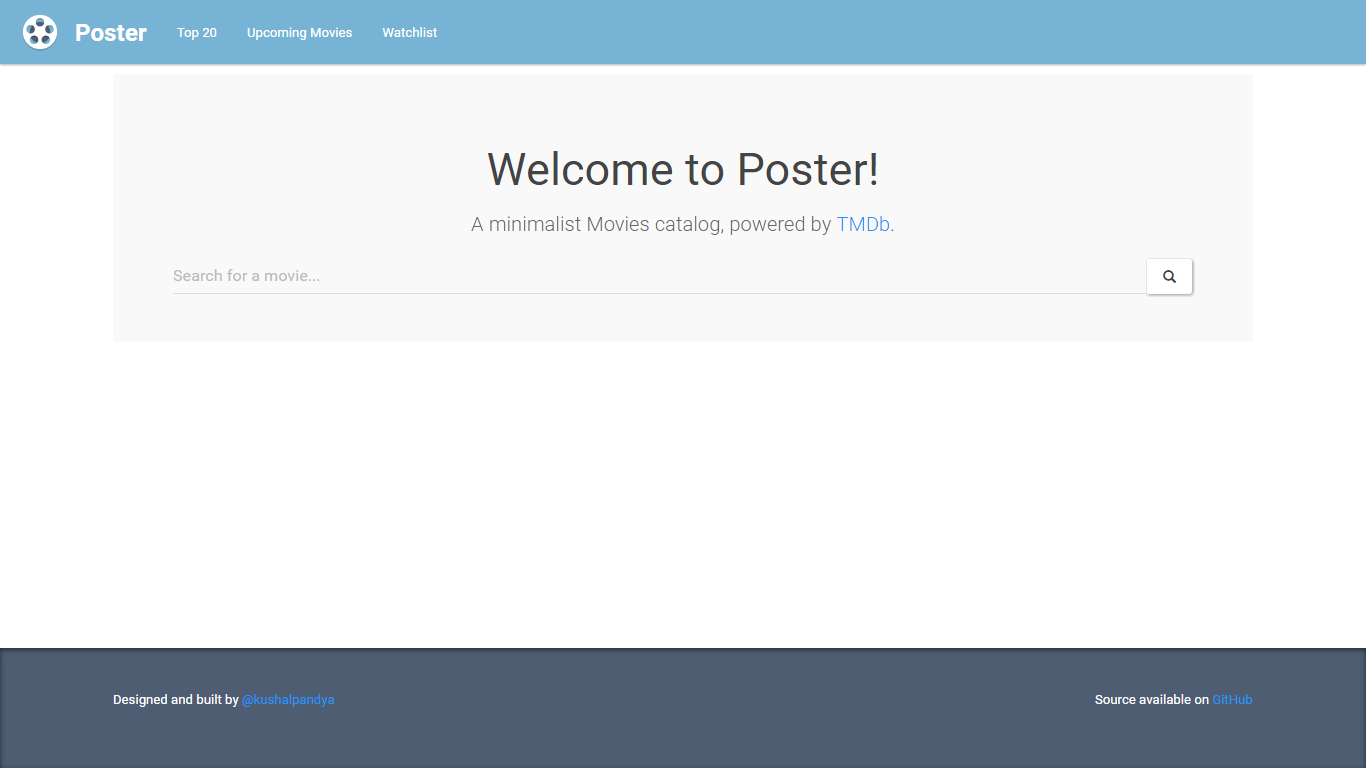 Poster Homepage