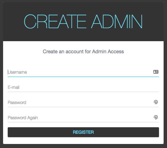 Create Admin