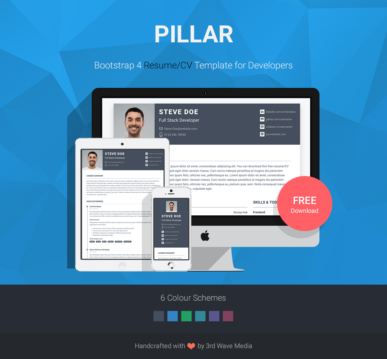 github - xriley  pillar-theme  pillar  cv theme for developers