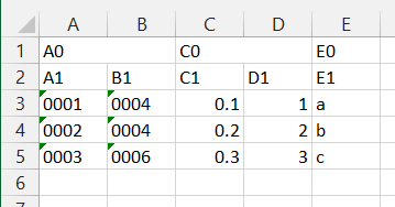 Unable to control import of 1st column from Excel file (with