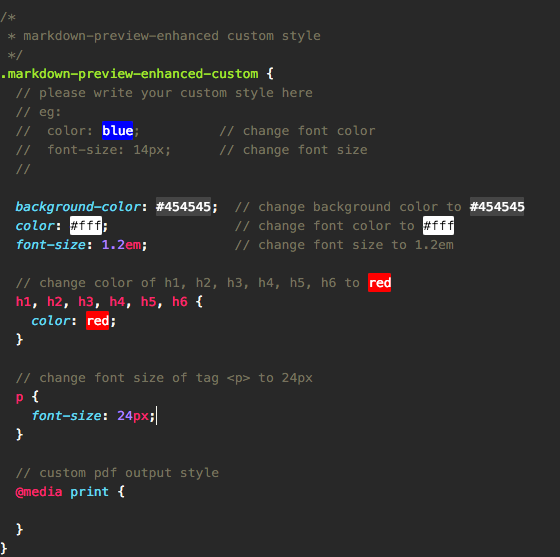 You Can Edit Markdown Preview Enhanced Custom Section Like This