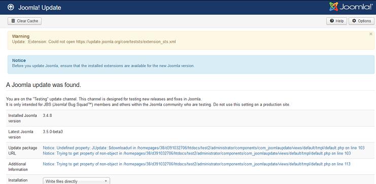 Joomla! Issue Tracker | Joomla! CMS #9281 - Joomla! Update