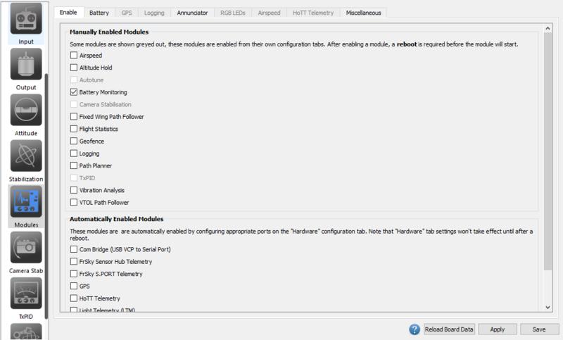 OnlineHelp: Modules · d-ronin/dRonin Wiki · GitHub