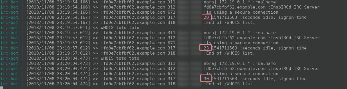 idle method always return 0 · Issue #262 · cinchrb/cinch