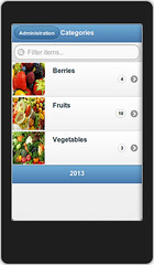 NORD POS mobile - Categories list
