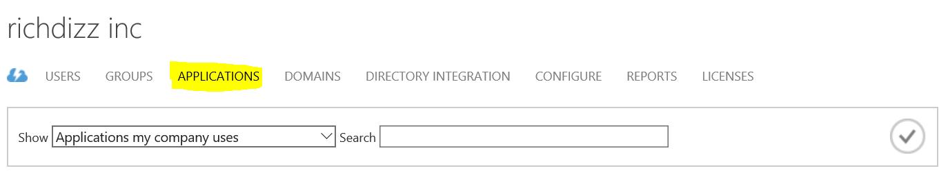 Applications tab