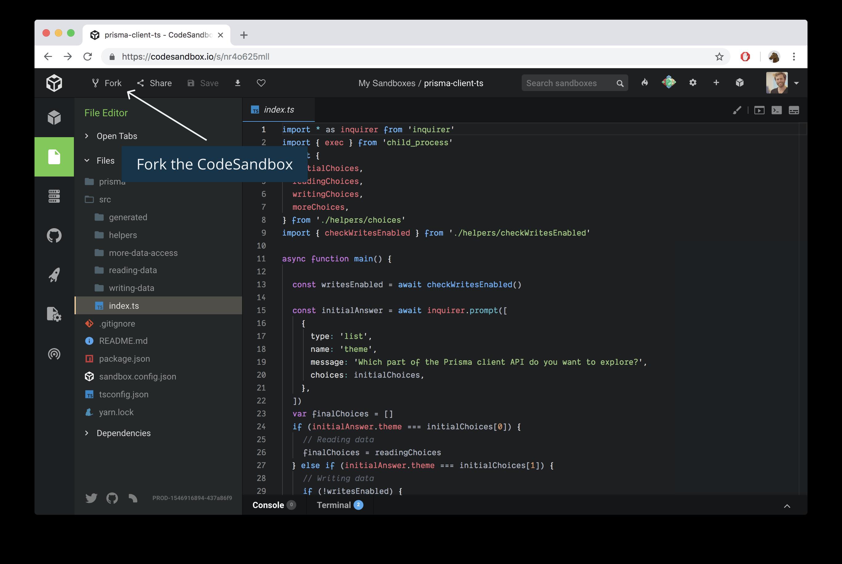 prisma-client-explorer-csb md · GitHub