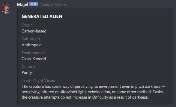 Generate a random alien
