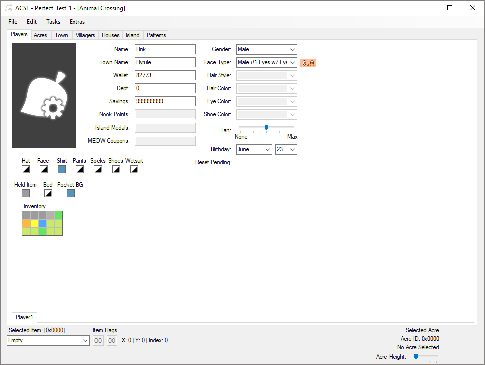 Github cuyler36acse a save editor for the animal crossing main player editor gumiabroncs