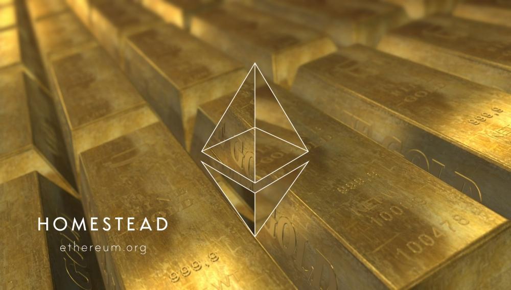 Ethereum Homestead gold ingots