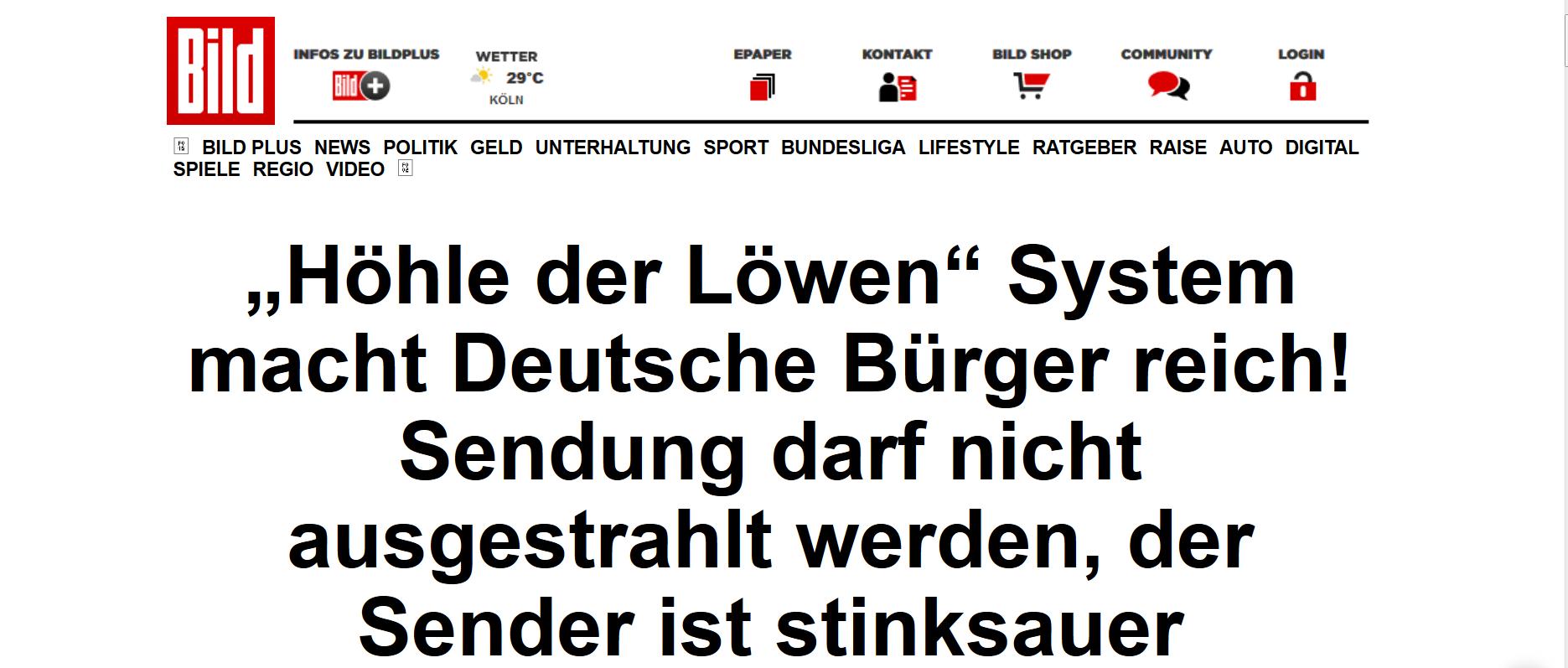 Höhle der löwen system macht deutsche bürger reich