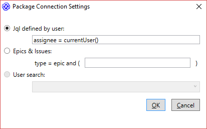 Package Connection Settings