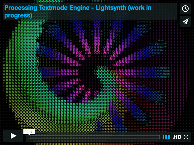 Textmode Lightsynth Video