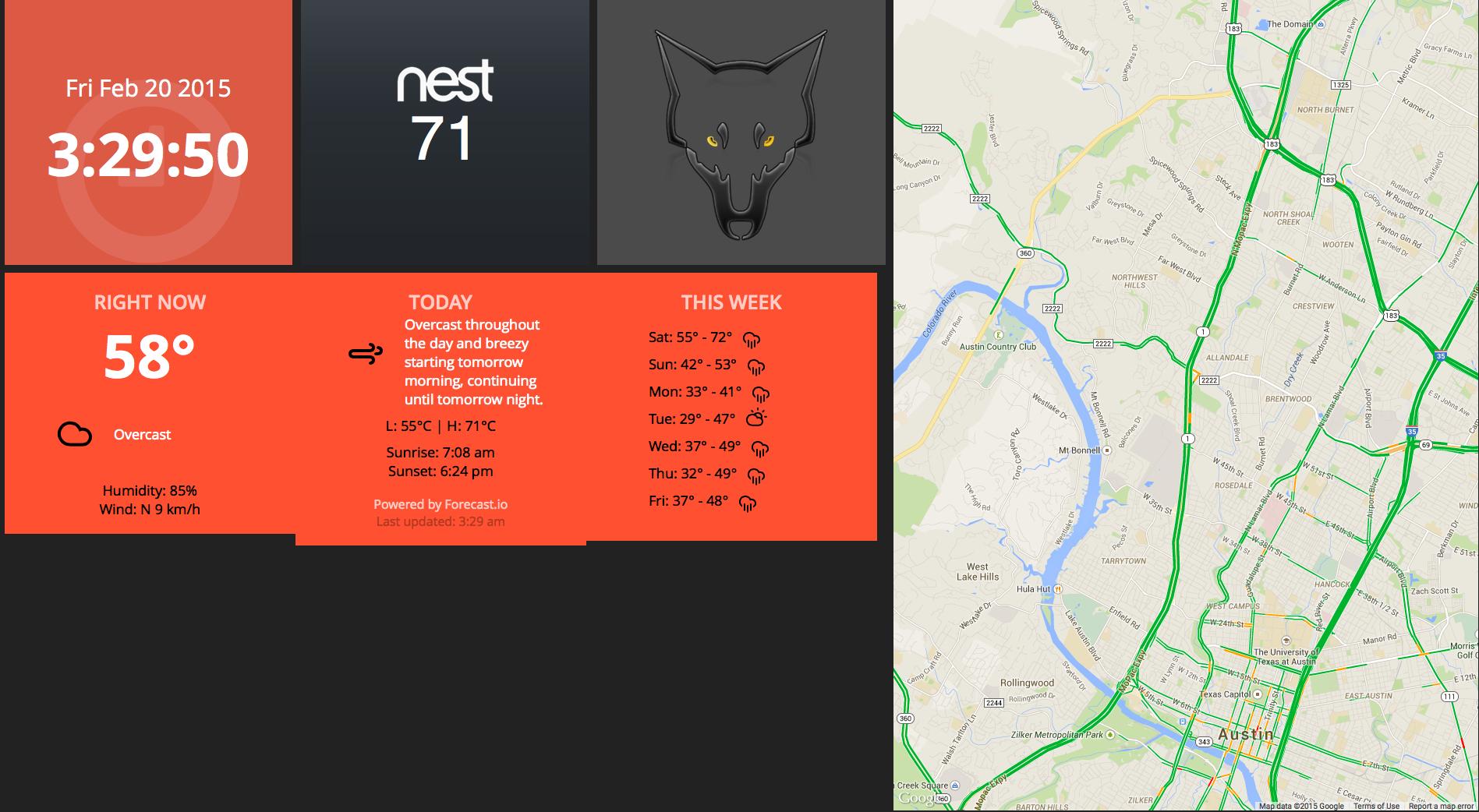 Dashing traffic map