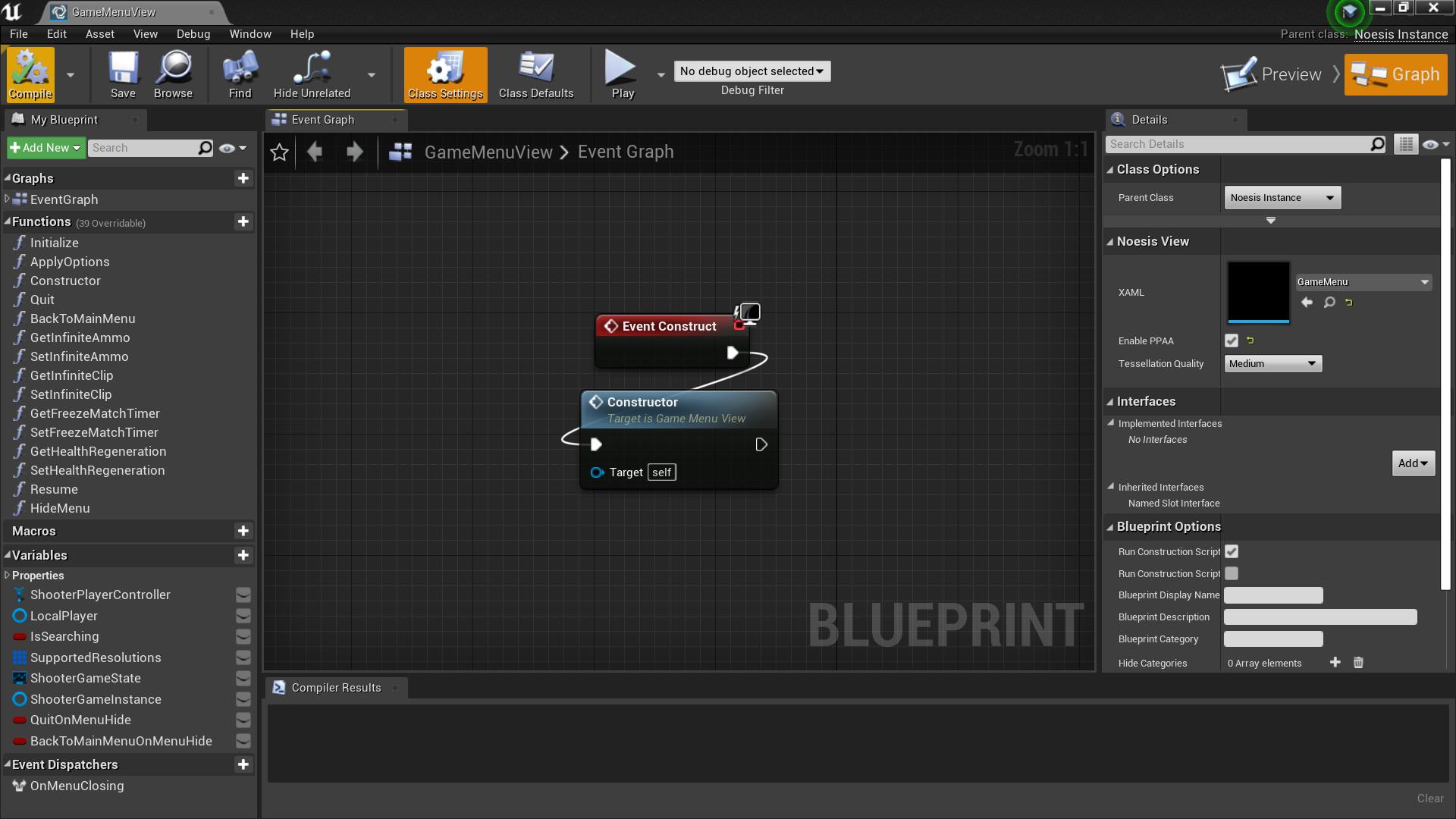 NoesisBlueprint'/Game/ShooterGame/GameMenuView.GameMenuView'