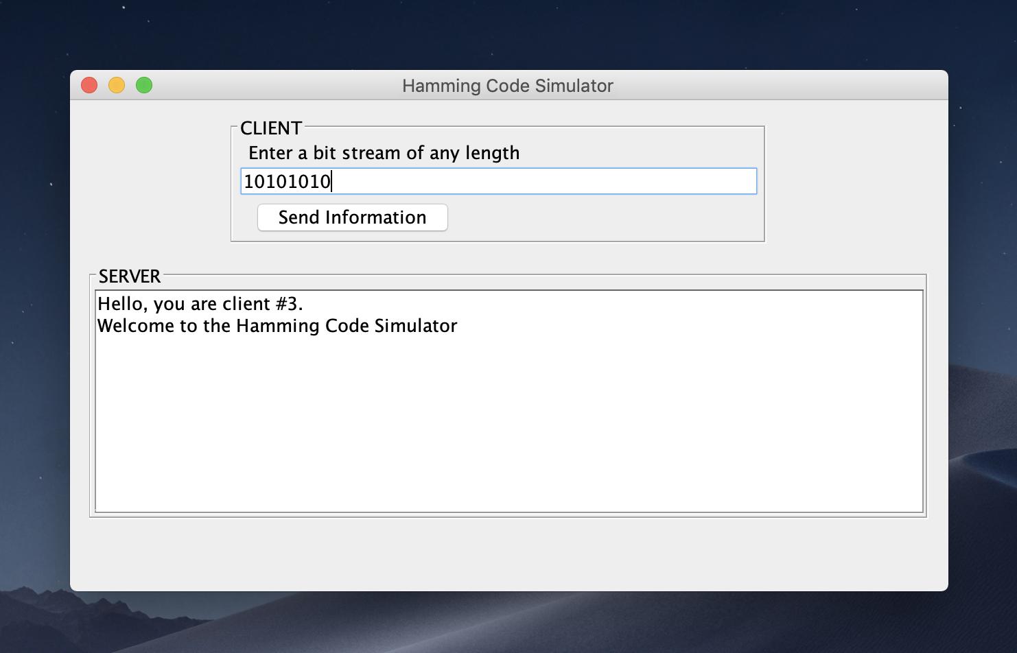 GitHub - gayuru/Ghamming: GUI Based Hamming Code app