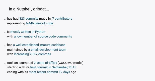 Screenshot of OpenHub