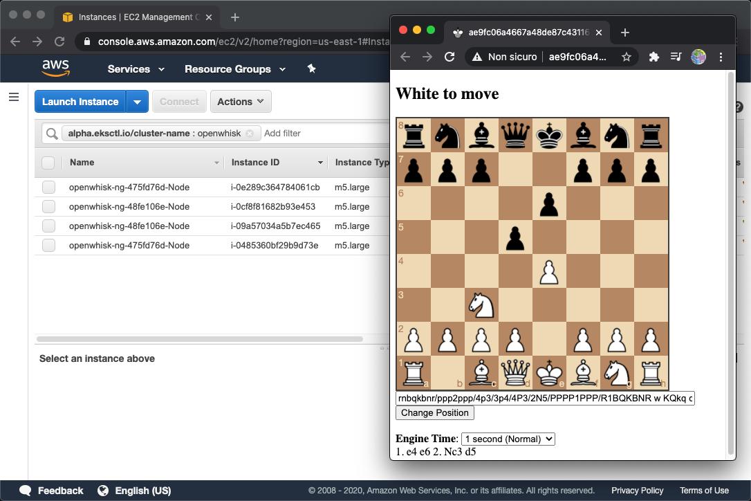 Whisk Chess in AWS EKS