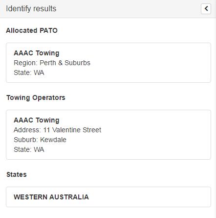 identify results screenshot