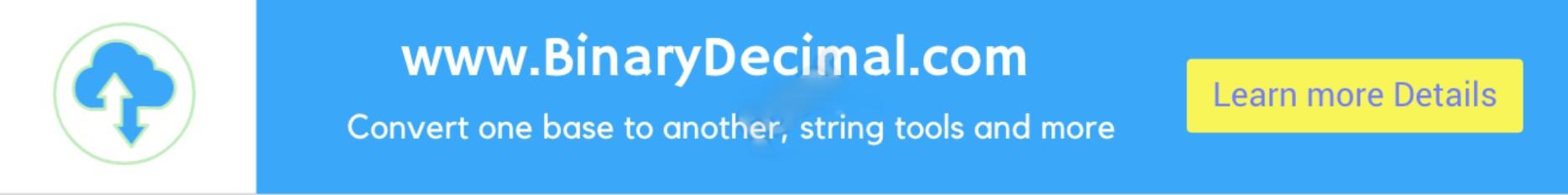 BinaryDecimal.com