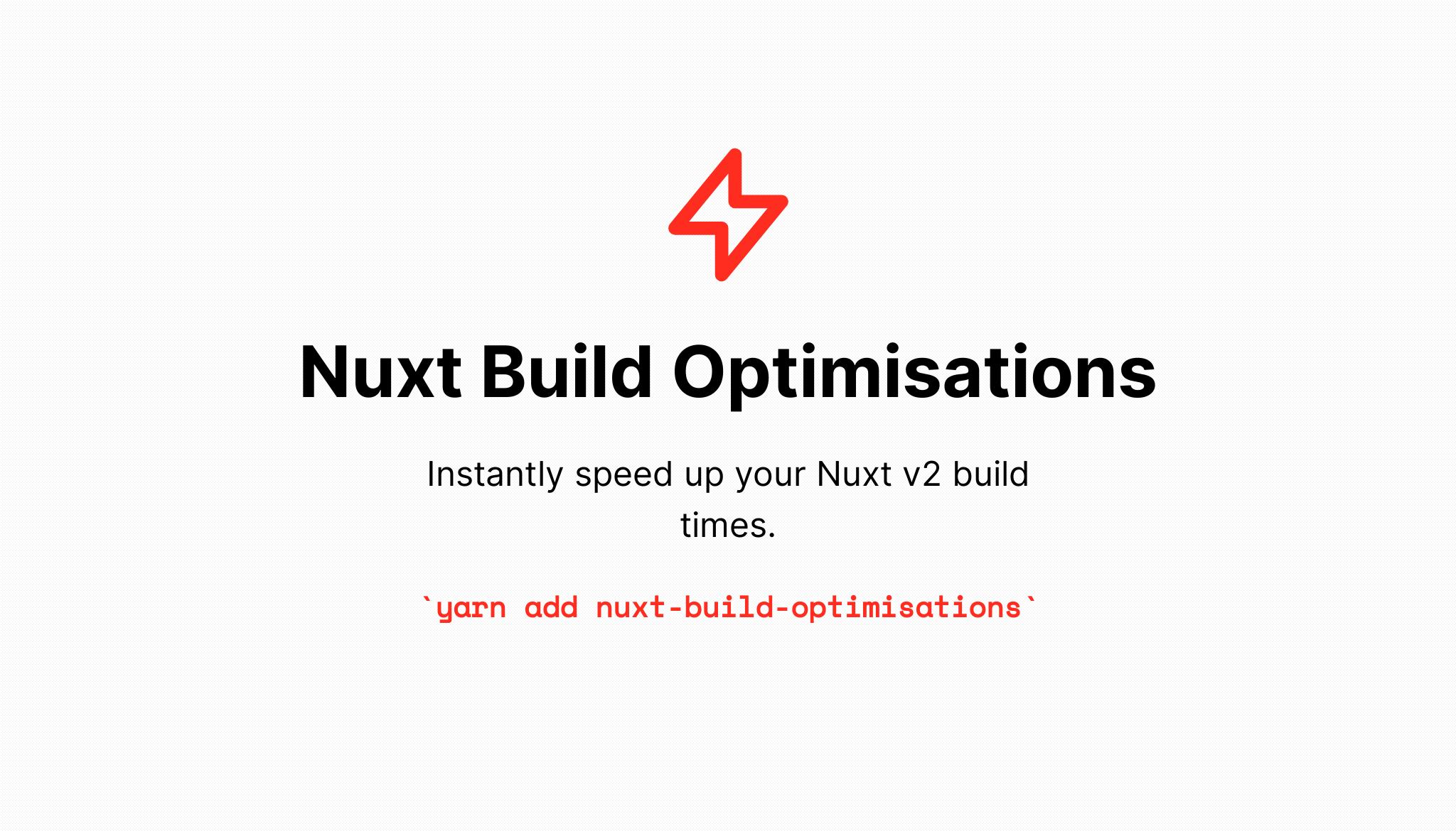nuxt 加快编译速度
