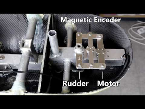 Rudder control: Worm geared motor with a position feedback