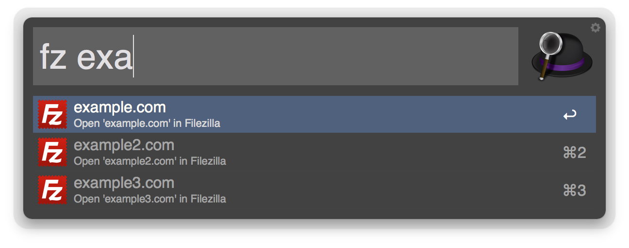 screenshot of the workflow in use