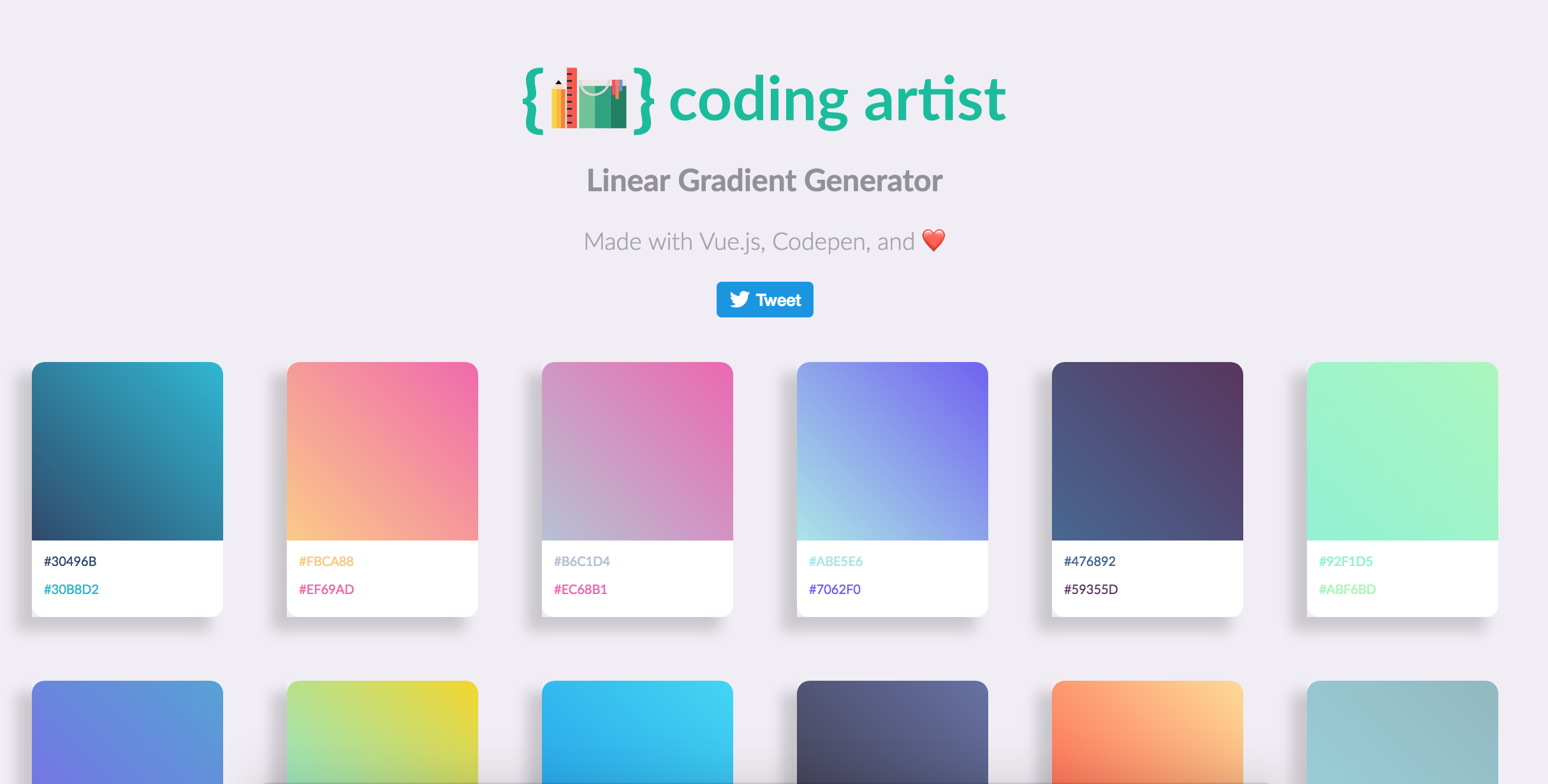 Github Michaelmang Linear Gradient Generator A Simple Site Made With Vue Js That Generates Linear Gradients