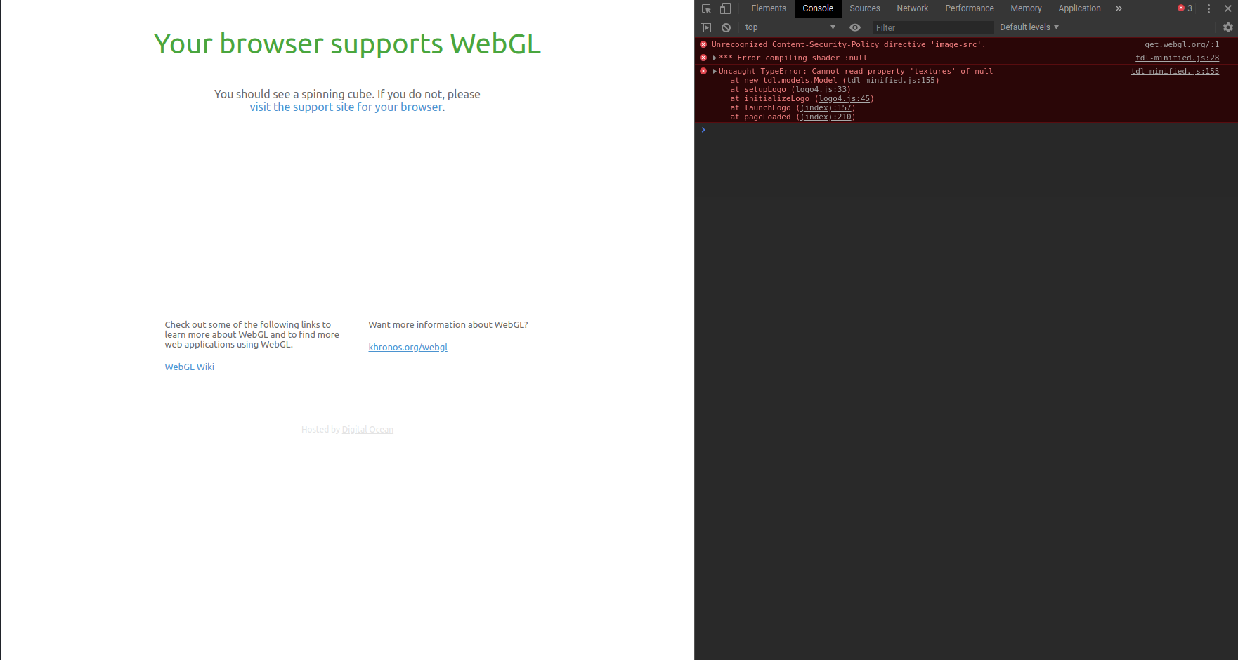 WebGL get's blocked by fingerprinting protection · Issue