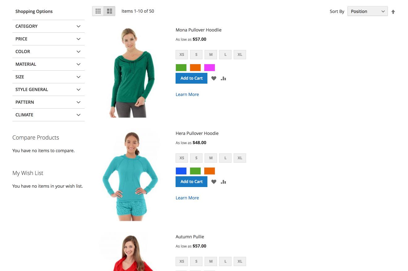 shopigo/magento2-extension-ajax-pagination-sorting - Packagist