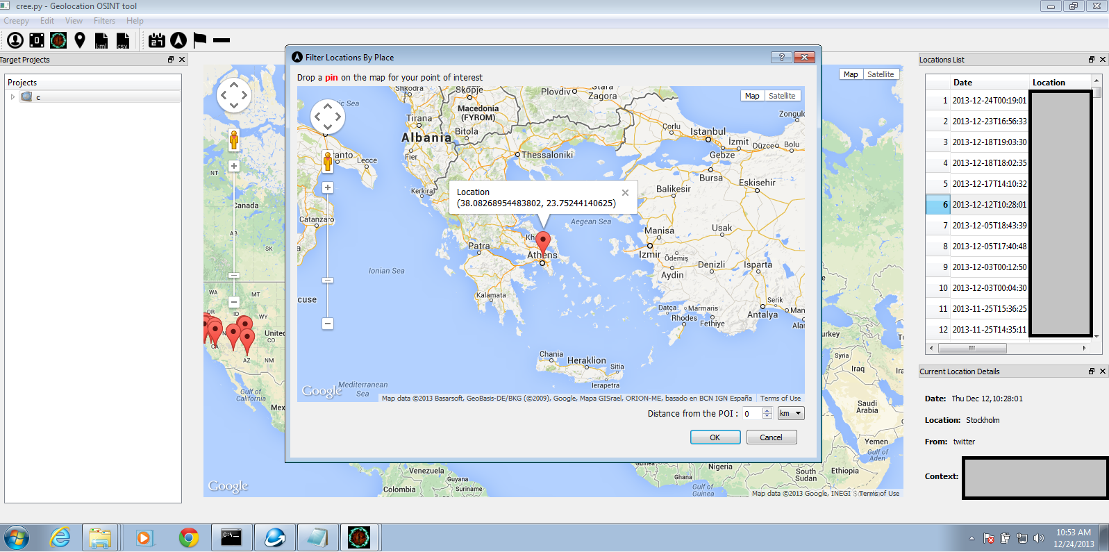 Filtering Results by Location