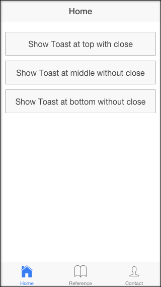 ionic-toast buttons