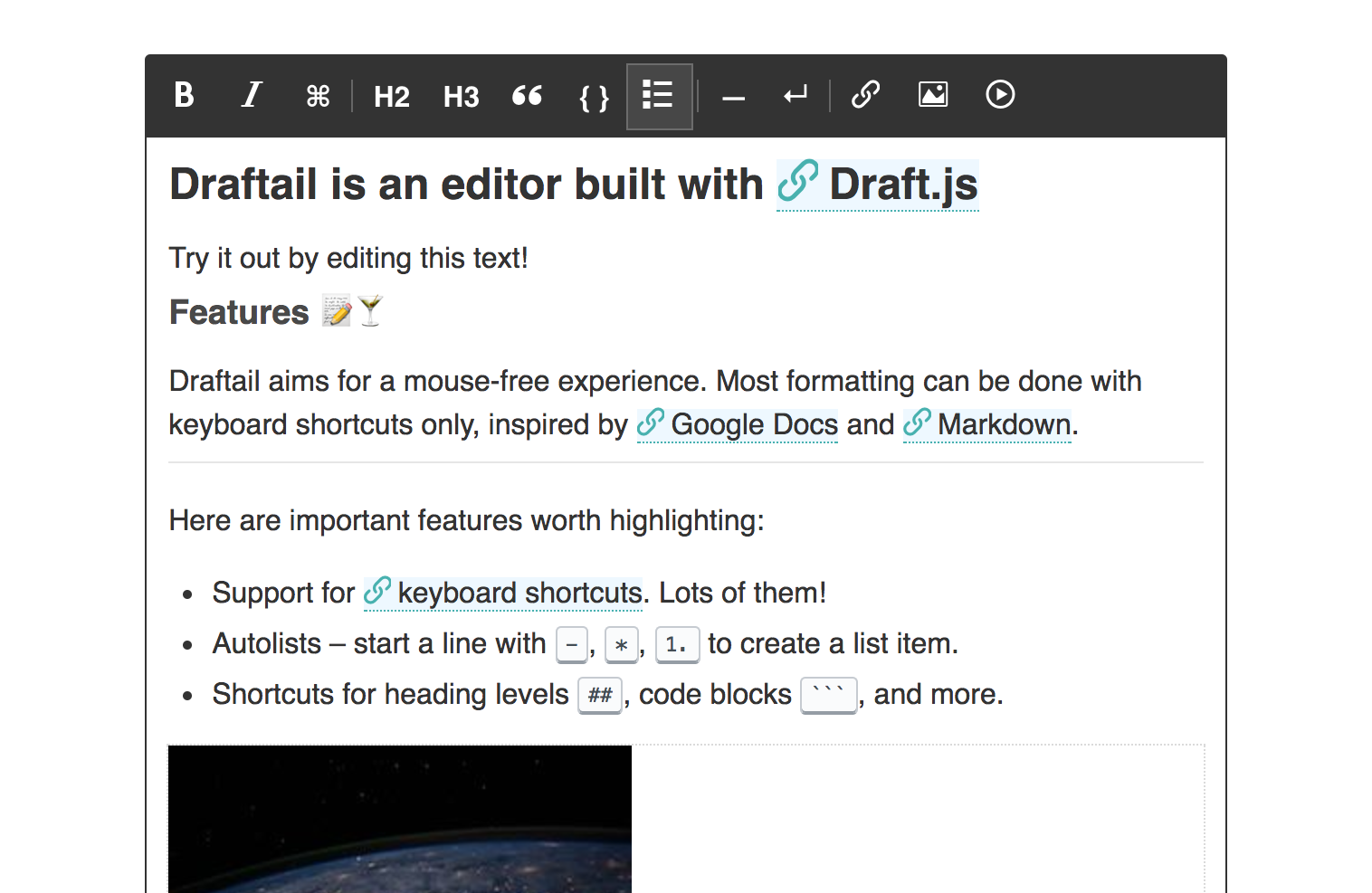 draftail/README md at master · springload/draftail · GitHub