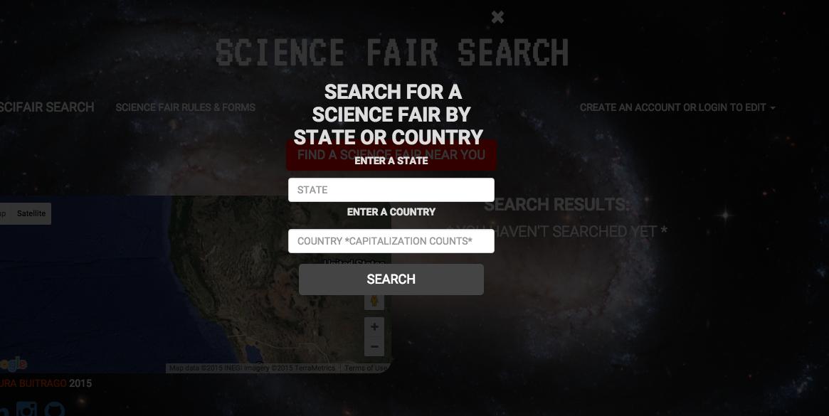 search modal