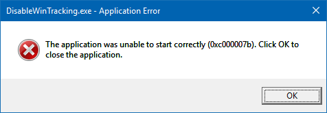 Unable to open application  Error 0xc000007b · Issue #175
