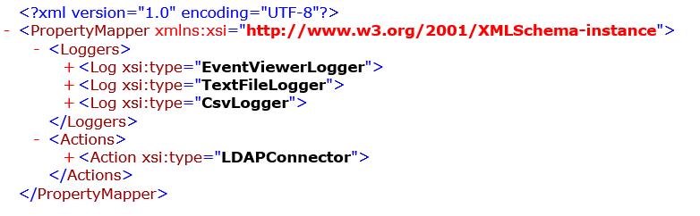 XML configuration for PropertyMapper element