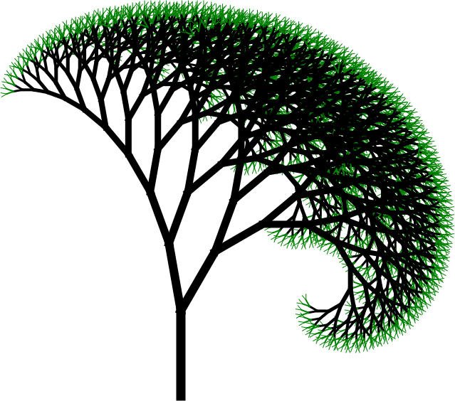 A tree created in Logo