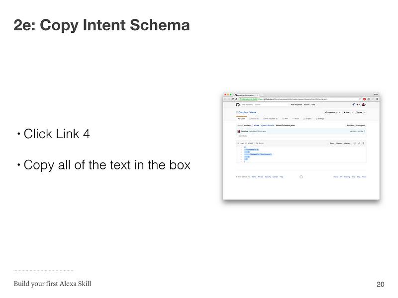 Step 2e: Copy Intent Schema