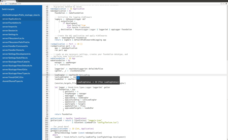 Stackage-view screenshot