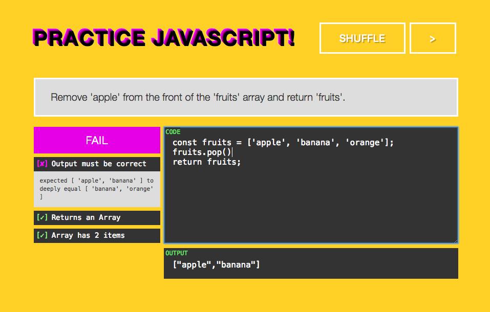 PracticeJavaScript site