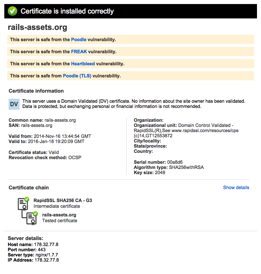 Https Errors Possibly Related To Certs Since Openssl Announcement