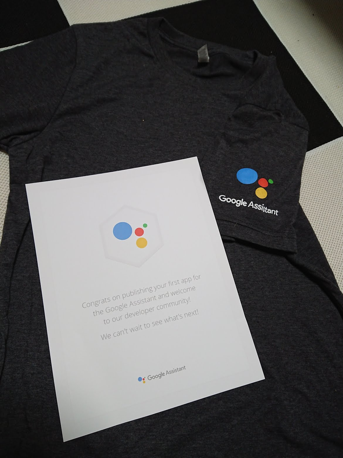f41540c1 Publish your first ever action for Google assistant then you can get a  Google T-Shirt. If at least one of your Actions projects reaches one of the  three ...