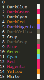 Monokai prompt colours