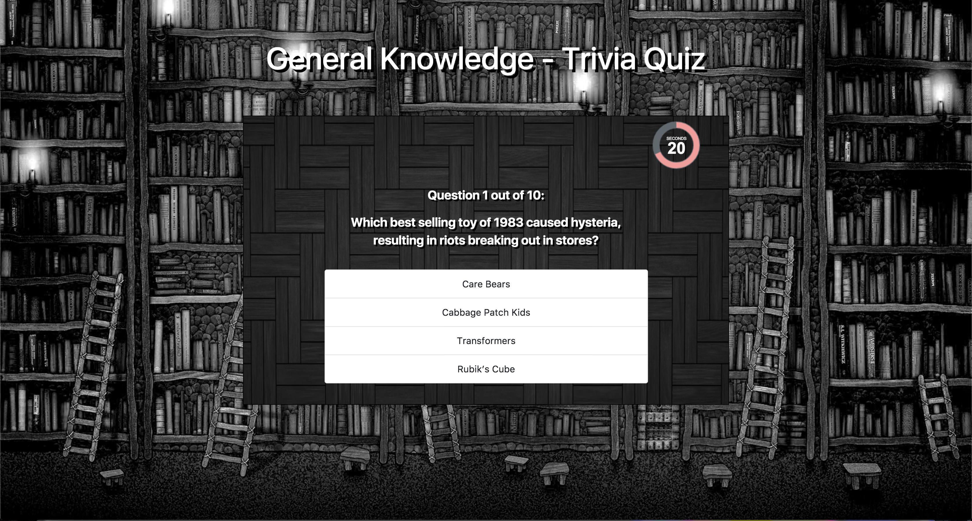 Trivia Quiz Jquery