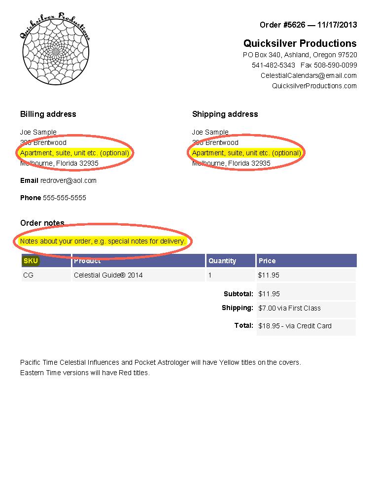printing address labels