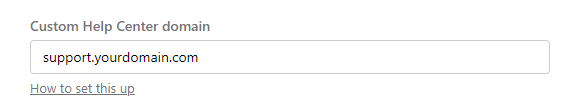 help center domain on intercom