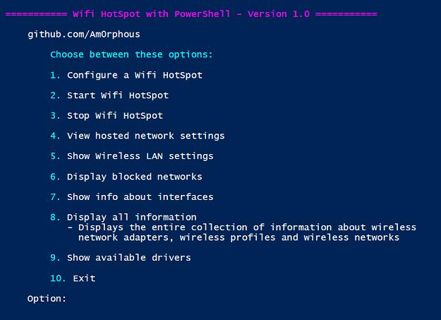 GitHub - Am0rphous/Create-WiFi-Hotspot-PowerShell: Manage