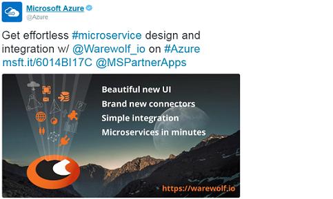 MS Azure Tweet